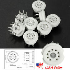 US 8X Ceramic 9Pin PCB Vacuum Tube Socket Valve Base 12AX7 12AU7 ECC83 Parts