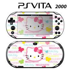Vinyl Decal Skin Sticker for Sony PS Vita Slim 2000 Cute Kitty Butterfly