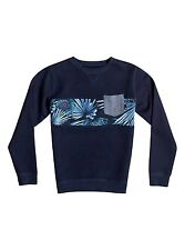 Quiksilver Boys Strange Night Pullover Navy Sweats Sz Medium  EQBFT03268