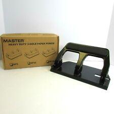 Master Martin Yale Brand Heavy Duty Paper Punch 3 Hole 30 Sheet Capacity Mp40