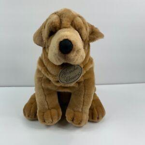 """Russ Berrie Yomiko Classics,16"""" Tall Sitting Sharpei Plush / Stuffed Dog"""