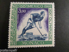 MONACO 1968, timbre AERIEN 92, AVION, SPORT, HOCKEY, neuf**, AIRMAIL STAMP MNH