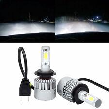2pcs 80W 8000LM H7 COB LED Voiture Phare Conduire Courir Lumière Lampe 6500K