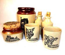 Vintage/Antique Stoneware Kitchen Storage Jars - Preserves, Oil, Vinegar, Pasta