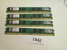 Kingston KTM4982/1G 4x1Gb=4Gb PC2-5300 667Mhz DDR2 Desktop Memory RAM (1251)