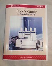 Users Manual Instruction Book for Husqvarna Viking Huskylock 905 910 Serger