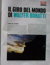WALTER BONATTI GIRO DEL MONDO EPOCA 1970 1024 INSERTO ISOLA DI PASQUA COMPLETO