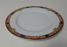 Philippe Deshoulieres Limoges France Palio Pattern Salad Plate Coral & Turquoise