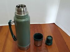 Stanley Thermos Handle Cup Beverage Hot Warm Carry 1.1 quart Vacuum Bottle