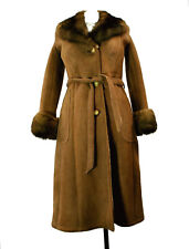 Sawyer of Napa Shearling Coat 6 Med Small 60's Vtg Abercrombie & Fitch Fur Lamb