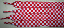 """Shoe Laces WIDE Checker FIFA  Croatia World Cup soccer fans boot red/white 44"""""""