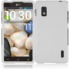 For AT&T LG Optimus G E970 Rubberized HARD Case Snap On Phone Cover White