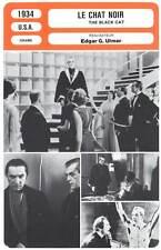 LE CHAT NOIR - Karloff,Lugosi,Ulmer (Fiche Cinéma) 1934 - The Black Cat