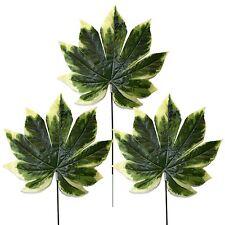 Confezione di 3 ARTIFICIALI Mancese variegate foglie-artificiali fogliame