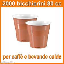 2000 bicchierini plastica monouso per caffè e bevande calde - bicchieri bicolore