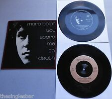 "Marc Bolan - You Scare Me To Death 1981 Cherry Red 7"" + Flexi P/S"