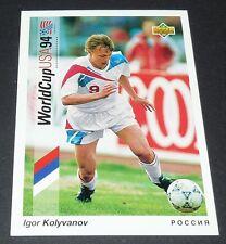 KOLYVANOV FOGGIA ROSSIJA FOOTBALL CARD UPPER DECK USA 94 PANINI 1994 WM94