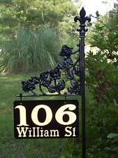reflective Address/house/yard sign - The Mini Rose