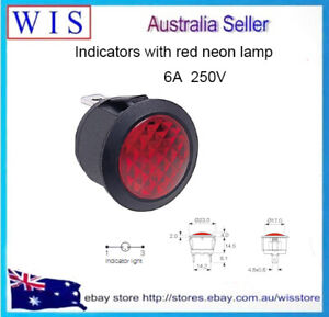 R9-92N-02-R Indicator w neon lamp Prominent 230VAC Cutout: Ø20mm IP20