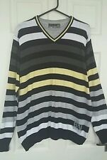 mens jumper size XL mens stripy long sleeved  jumper vgc