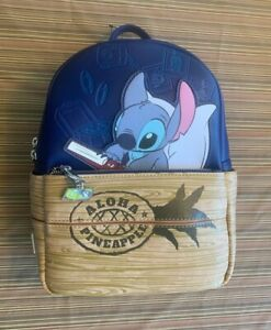 Loungefly Disney Lilo & Stitch Pineapple Aloha Crate Mini Backpack LE Exclusive