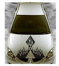 "30"" x 28"" Large MITSUBISHI Flaming Diamonds Hood Decals Mirage Eclipse Stripes"