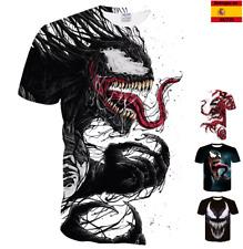 spiderman venom super heroes marvel anime camiseta de manga corta