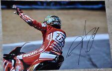 "Nicky Hayden Signed 12"" x 8"" Colour Photo MotoGP Ducati #2"