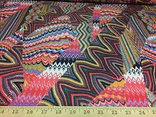 "Colorful Print 4 Way Stretch Heavy Weight Poly Lycra Fabric 58"" W BTY"