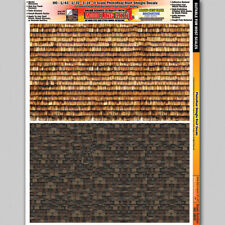 Roof Shingles Scale Model Diorama Decal Scenery Details 1/24 - 1/64 HO Scale