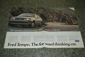 ★★1985 FORD TEMPO ORIGINAL FOLD OUT ADVERTISEMENT AD PRINT-85★★