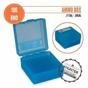 Xhunter 100Rnd Flip-Top Rifle Ammo Box Case .17 .223Rem .222Rem .300 6Mm Xt907