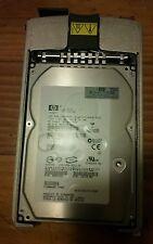 HP 146gb SCSI Ultra 320 10,000rpm hard drive 3.5 inch in server cradle.