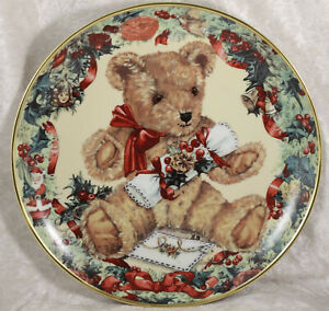 Franklin Mint Teddy's first christmas  china collectors plate Teddy Bear