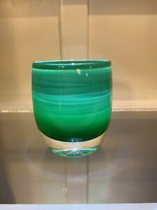 Glassybaby mistletoe Votive Candle, limited edition for Christmas. Sold out!