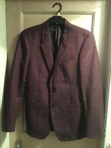 Burberry London 'Mardale' Men's Burgundy Blazer Jacket Size 48R