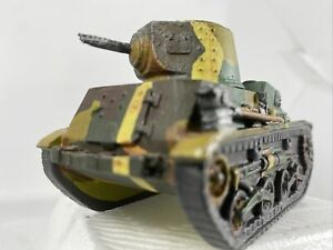 Scarce Built Metal Built Tank 1/35-1/32?Machine gun 4x2x2.5inch Camouflage Paint