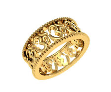 Solid 18K Yellow Gold Men's Engagement Wedding Band Rings Style Om 9 MM Size 11