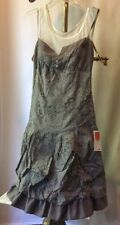 Bai Amour Paris New With Tags VANILLE  Dress Size T 3 M L Beige Peasant Boho Chi
