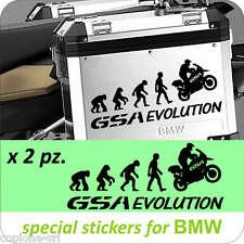 2 Adesivi Stickers Moto BMW R 1200 1150 1100 800 650 gs valigie GSA EVOLUTION