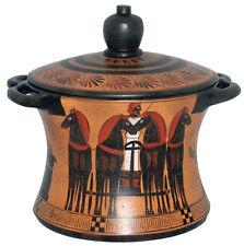 Ancient Greek Pyxis Vase Pottery Museum Replica Reproduction