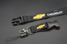 Black Car Accessories Keychain Key Card Bag Phone Neck Lanyard Chevrolet Logo