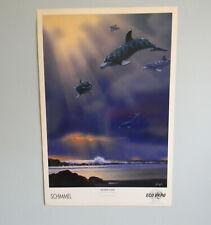 SCHIM SCHIMMEL Dolphin Flight POSTER PRINT on Paper 36 X 24 ANIMAL SURREALISM