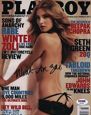 Winter Ave Zoli Signed 8x10 Auto PSA Sons of Anarchy FX Actress Playboy Cover