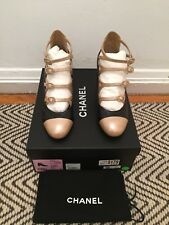 NIB Chanel Other Open Shoes 17C G32407 Y52098 in Black/Beige SZ 38 - $1050