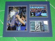 SHINJI OKAZAKI firmato Leicester City FC 2015/16 PREMIER LEAGUE CHAMPIONS MOUNT