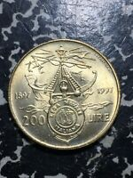 1997 Italy 200 Lire (10 Available) High Grade! Beautiful! (1 Coin Only)