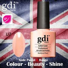 UK SELLER Gdi Nails NUDE Range U07 UV/LED Gel Soak Off nail polish