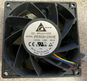 Delta 92mm Ultra High Airflow PWM Fan 186 CFM 5 Pin PFR0912XHE | BC02