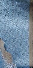 💖 Einsteiger - Mohair, 10 mm Florlänge, 20 x 70 cm, blau auf grauem Rücken 💖
